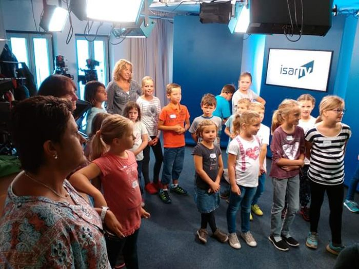 Blick hinter die Kamera bei ISAR TV