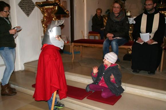 St. Martin teilte seinen warmen Mantel mit einem armen Bettler